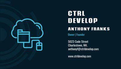 Web Development Company Business Card Maker 75b