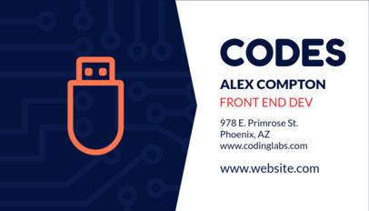 Front End Developer Business Card Template 75e