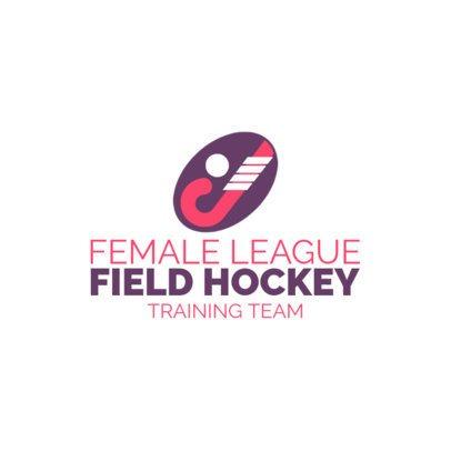 Field Hockey Logo Maker for a Female Hockey League 1620
