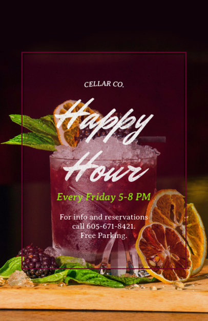 Happy Hour Online Flyer Maker 173a