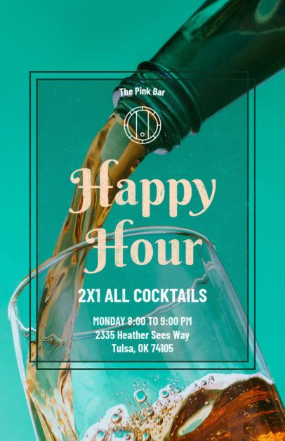 Bar Online Flyer Maker for Happy Hour 173c