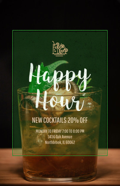 Bar Promotion Happy Hour Online Flyer Maker 173b