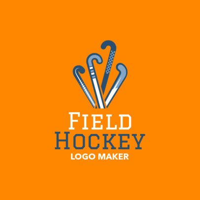 Filed Hockey Logo Template with Field Hockey Clipart 1620a