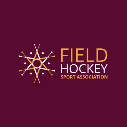 Pro Field Hockey Logo Maker for a Hockey Federation 1620b