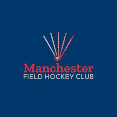 Simple Field Hockey Logo Template with Hockey Stick Graphics 1620e