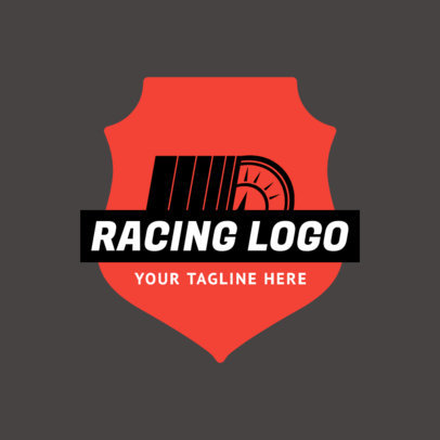 Minimalistic Racing Logo Template 1645c