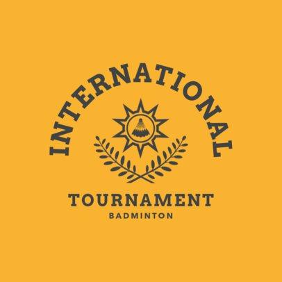 Badminton Logo Maker for an International Badminton Tournament 1631a
