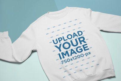 Flat Lay Mockup of Sweatshirt Mockup on a Flat Multicolor Background  24733