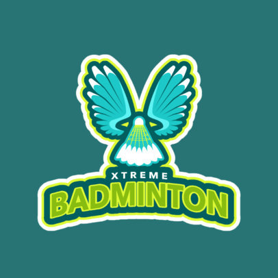 Badminton Club Logo Maker for Badminton Tournaments 1628c