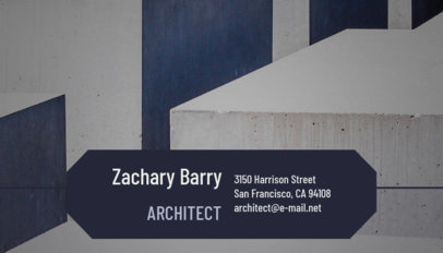 Architect Business Card Maker with Construction Designs 182e