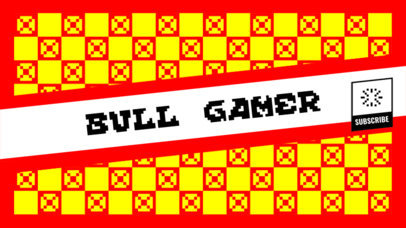 YouTube Banner Maker with Retro Graphics 393c