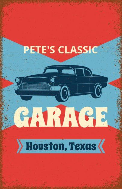 Online Flyer Maker for Classic Car Repair Shops #267d