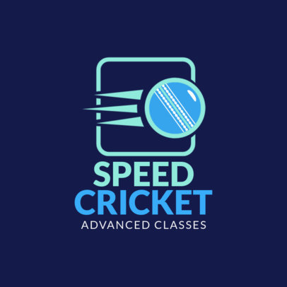 Professional Cricket Logo Design Template 1653c
