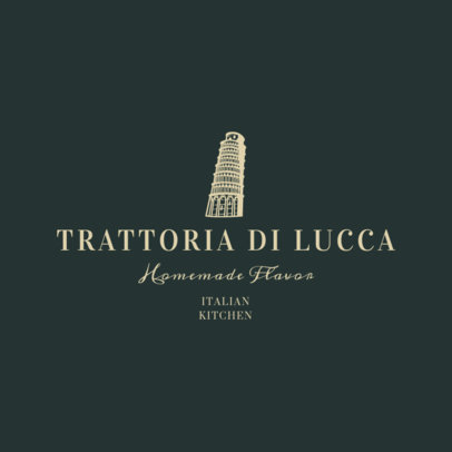 Fancy Italian Restaurant Logo Design Template 1659a