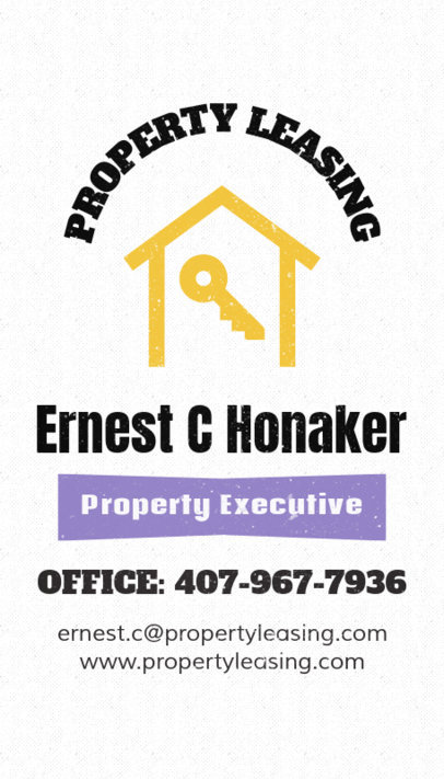 Commercial Real Estate Customizable Business Card Template 82c