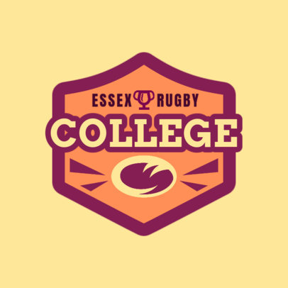 Rugby Logo Maker for a College Rugby Team 1618e
