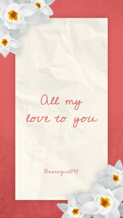 Romantic Valentine's Day Instagram Story Template 1042e