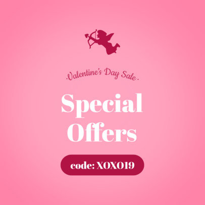 Valentine's Day Ad Banner Maker for Special Offers 1050