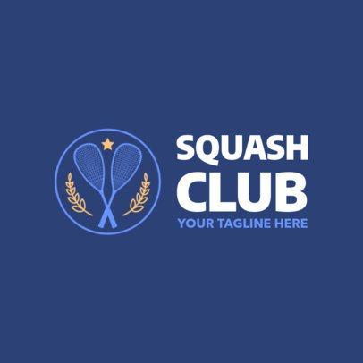 Squash Logo Template with Squash Racquets Clipart 1633e