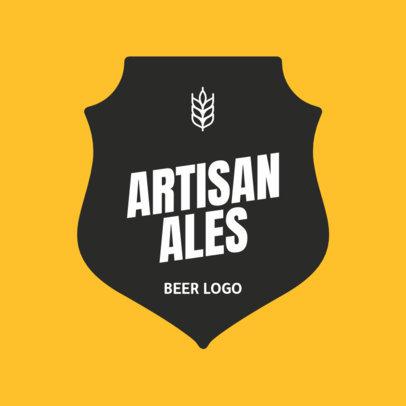Classy Brewery Logo Designs Maker for Artisanal Beer 1658e