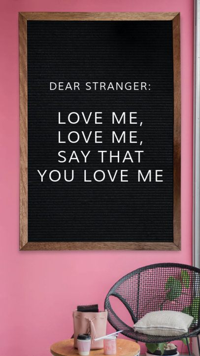Valentine's Day Instagram Story Template for Quotes 1054e