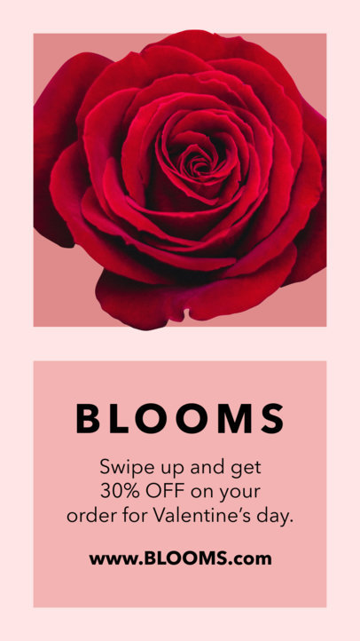 Valentine's Day Instagram Story Template for a Flower Shop 1046