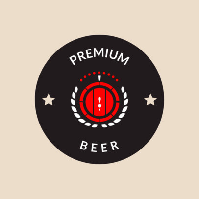 Simple Beer Logo Maker with Keg Graphics 1655c