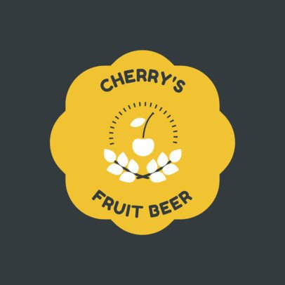 Brewery Logo Maker with Cherry Graphics 1655e
