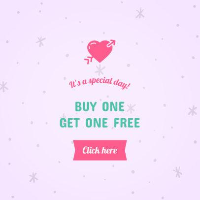 Ad Banner Maker for a Valentine's Day 2x1 Promo 1050e