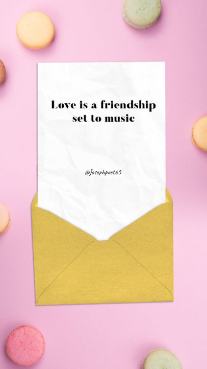 Valentine's Day Instagram Story Template for Romantic Quotes 1055c