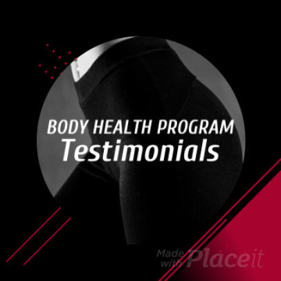 Slideshow Maker for a Fitness Testimonial Video 925