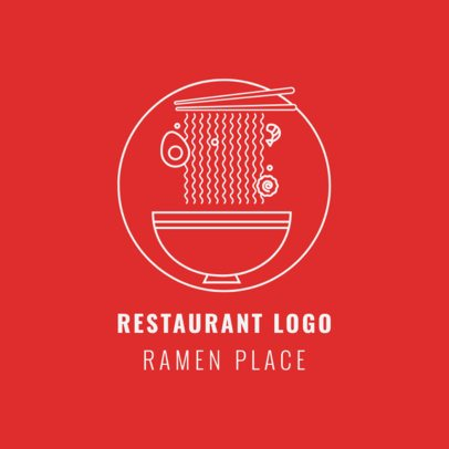 Chinese Food Logo Template for Ramen Restaurants 1670a