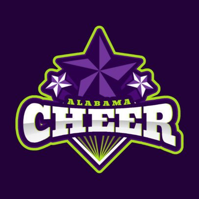Cheerleading Logo Template for Squads and Teams 1599c