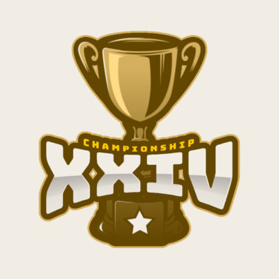 Cheerleader Logo Template with Trophy Graphics 1599b