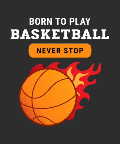 Sports T-Shirt Design Template with Basketball Graphics 906