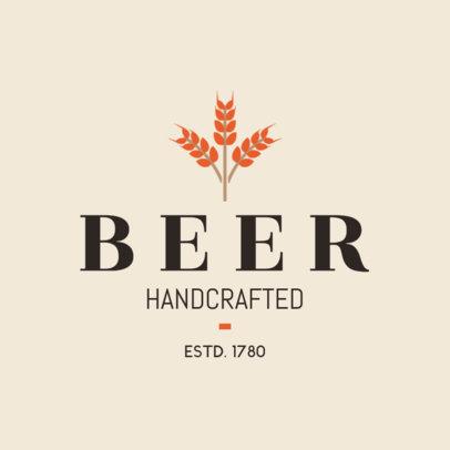 Handcrafted Beer Logo Maker 1654d
