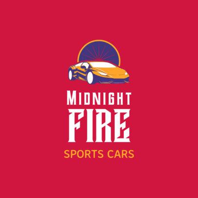 Racing Logo Design Template for a Sports Car Team 1646c