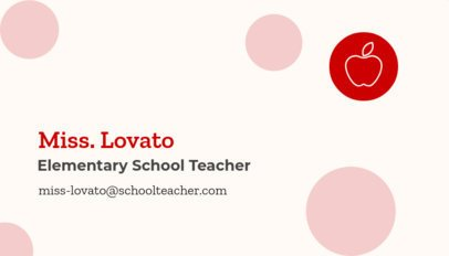 Business Card Maker for School Teachers 574c