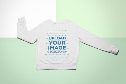 Hoodie Mockup Featuring a Colorful Background 24763