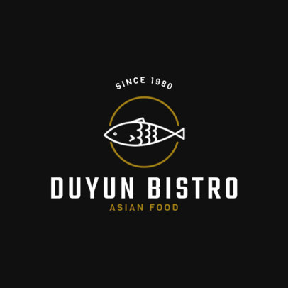 Chinese Restaurant Logo Maker for Asian Bistros 1666a