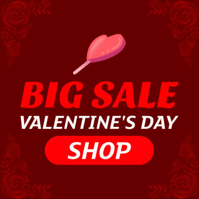 Big Valentine's Day Sale Banner Maker 1049c