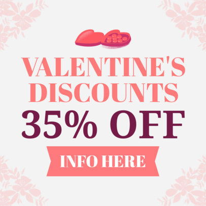 Valentine's Day Discount Banner Maker 1049e