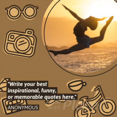 Instagram Quote Video Maker with Animated Text  843