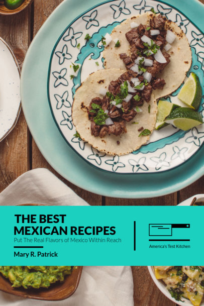 Book Cover Template for a Mexican Recipe Book 908b