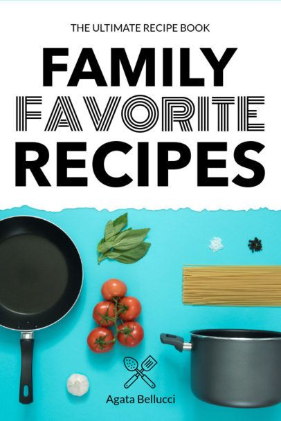 Book Cover Template for a Family Recipe Book 917