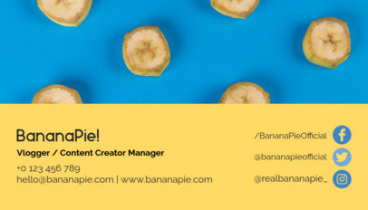 Content Creator Manager Business Card Maker 118c