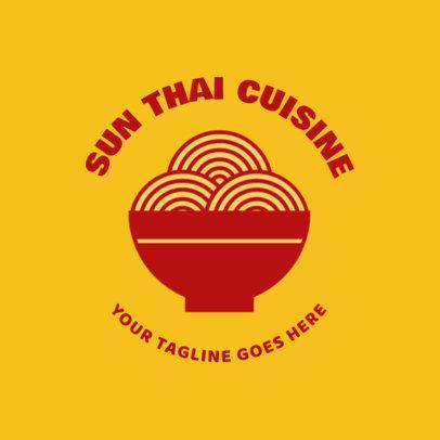 Chinese Cuisine Logo Maker for a Restaurant 1664e