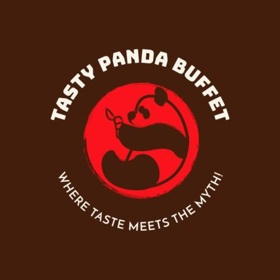 Chinese Restaurant Logo Maker with a Panda Graphic 1664c