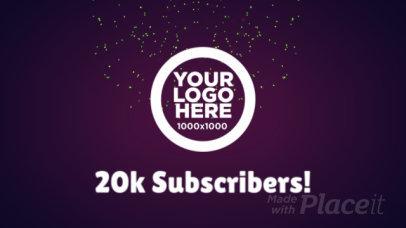 Celebration YouTube Intro Maker with Firework Animations 1045