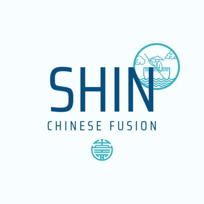 Chinese Food Logo Maker for an Asian Fusion Restaurant 1668e